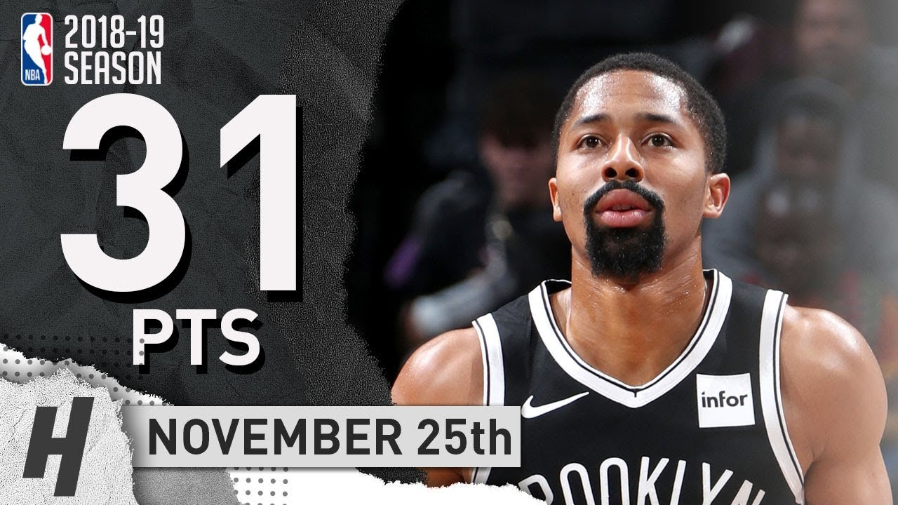 f77712fc74bc Spencer Dinwiddie Full Highlights Nets vs 76ers 2018.11.25 - 31 Pts ...